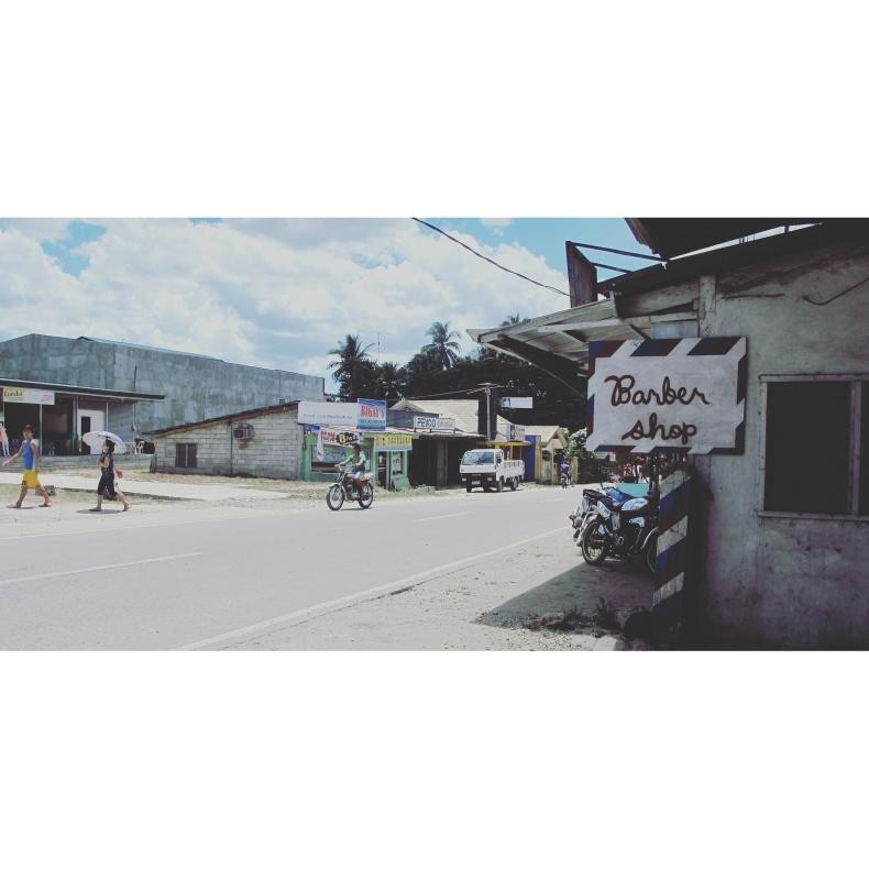 motorbike roadtrip Bohol Phillippines barbershop